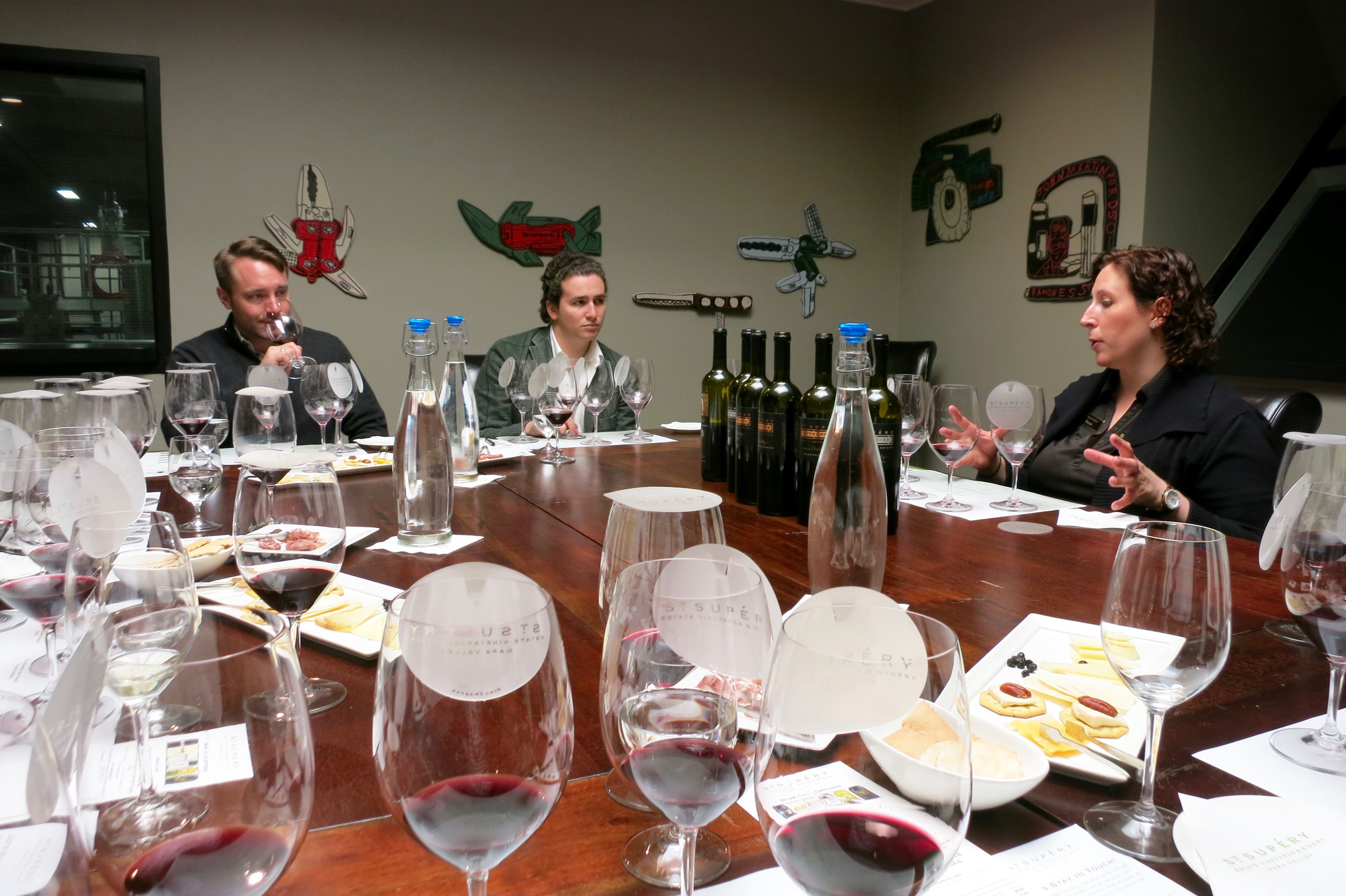 Wine education with a few of our esteemed guests